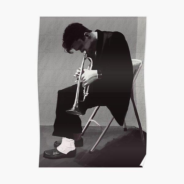 Chet Baker Melancholic Trumpet Poster