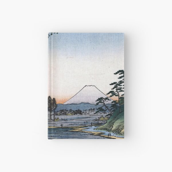 Utagawa Hiroshige The Teahouse with the View of Mt. Fuji Hardcover Journal