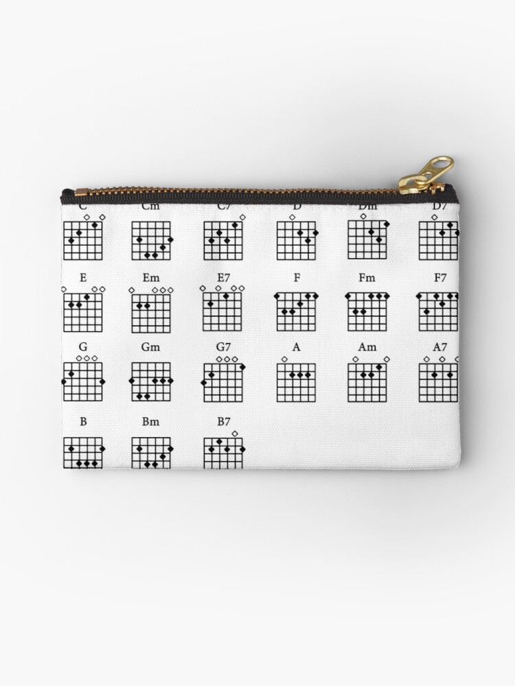 Basic Guitar Chords Studio Pouches By Forestkat Redbubble