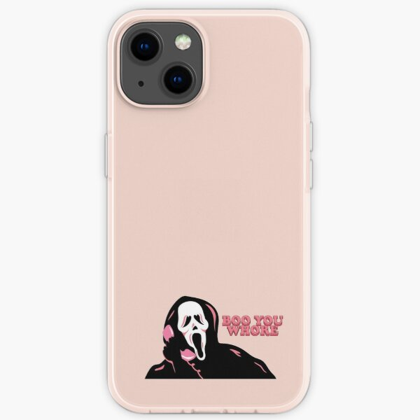 """""""BOO YOU WHORE"""" Ghost Face iPhone Soft Case"""