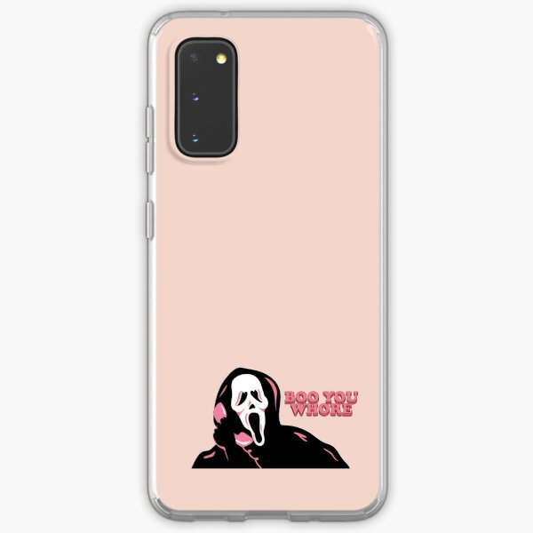 """BOO YOU WHORE"" Ghost Face Samsung Galaxy Soft Case"