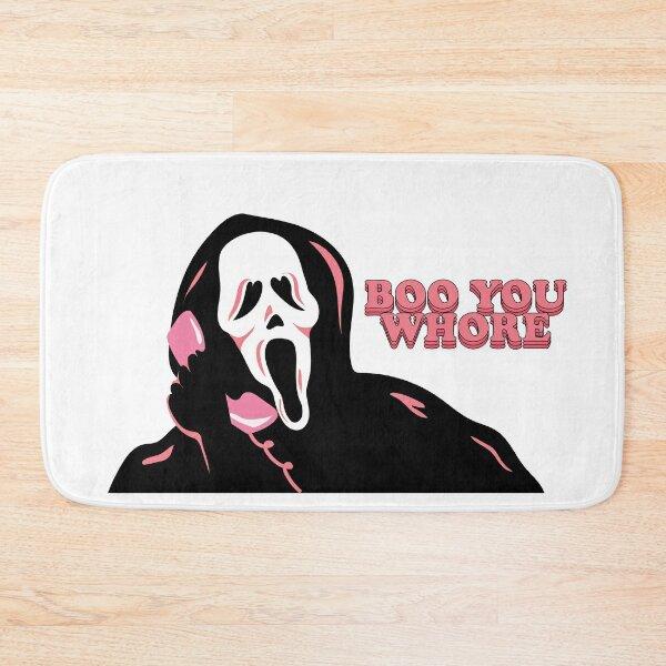 """BOO YOU WHORE"" Ghost Face Bath Mat"