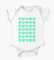 Love Hearts Abstract No.2 One Piece - Short Sleeve