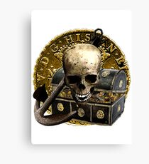 Anchored In Pirate Gold Canvas Print