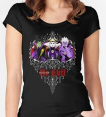 Three Wise Villains (Purple) Women's Fitted Scoop T-Shirt