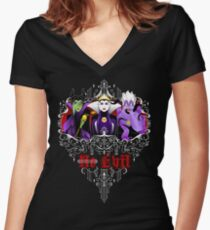 Three Wise Villains (Purple) Women's Fitted V-Neck T-Shirt