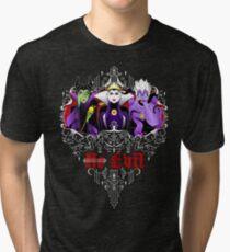 Three Wise Villains (Purple) Tri-blend T-Shirt