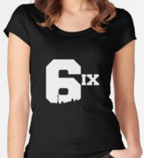 The 6ix Women's Fitted Scoop T-Shirt