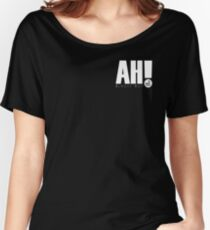 AH! - White small logo Women's Relaxed Fit T-Shirt