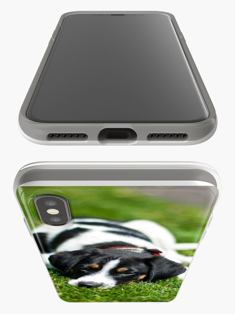 Alternate view of Puppy in the grass iPhone Case & Cover