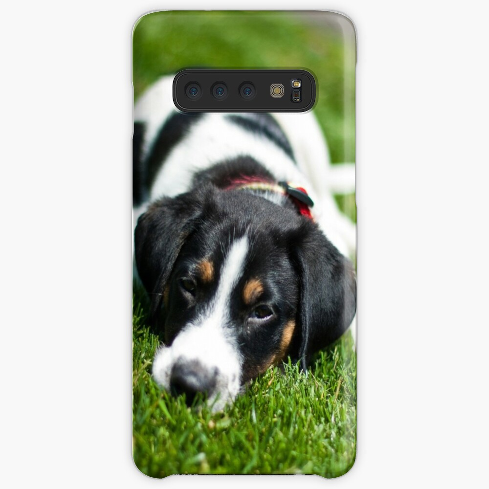 Puppy in the grass Case & Skin for Samsung Galaxy