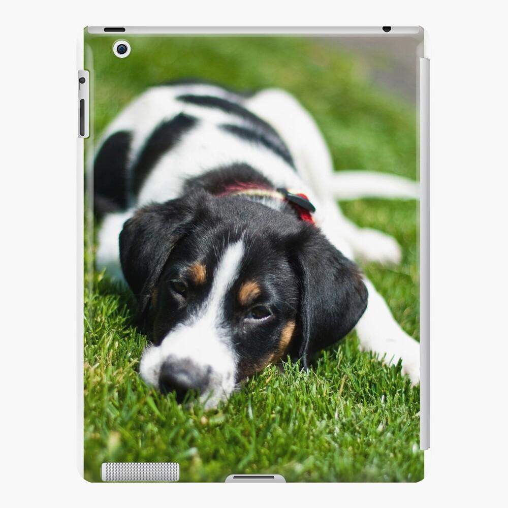 Puppy in the grass iPad Case & Skin