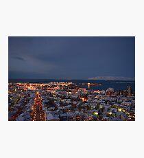 Hallgrimskirkja, Reykjavik, Iceland Photographic Print