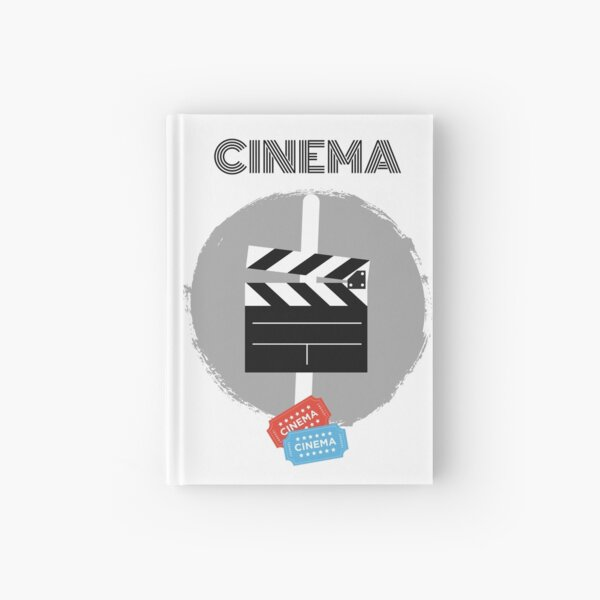 Movie Time, Movie, Movie Lover Funny, Cinema, Gift, Design Hardcover Journal