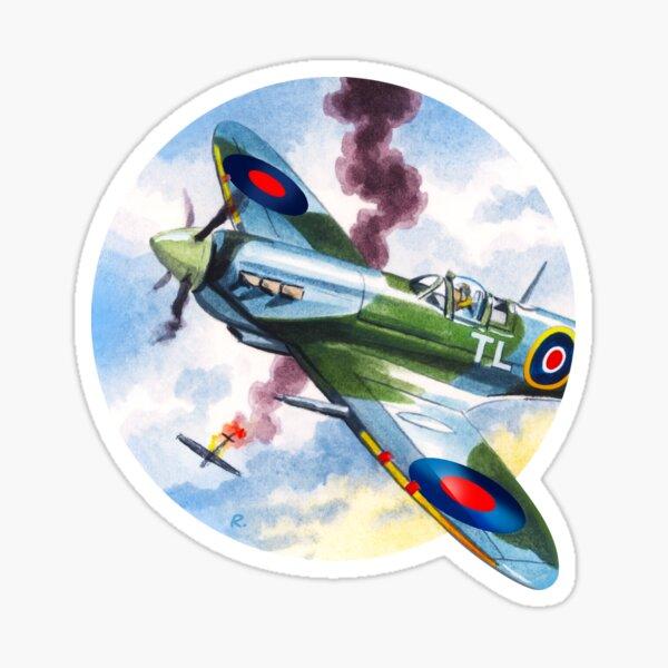 WW2 RAF Spitfire Dogfight Sticker