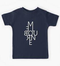 Melbourne - Mirror Text Kids Tee