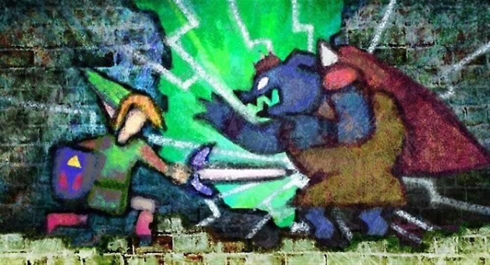 Zelda between worlds by santisimo