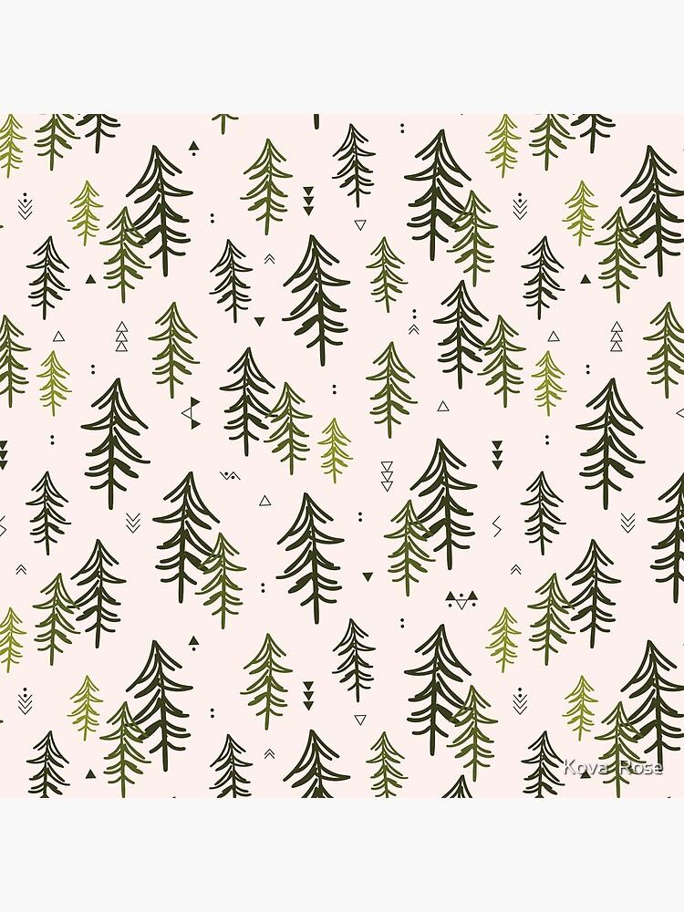 Doodled Fir Trees Pattern by Alishka88