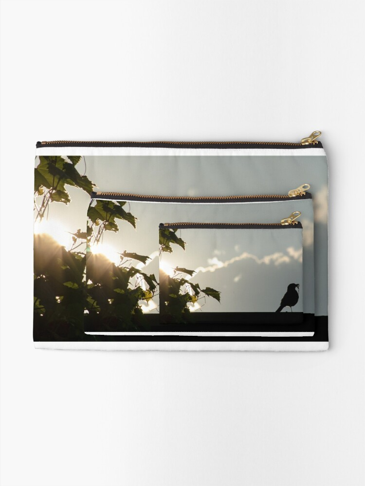 Alternate view of Early bird gets the worm Zipper Pouch
