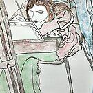 The Artist At Work by Fiona  Lohrbaecher