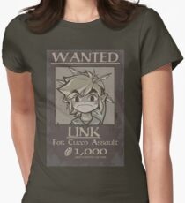 legend of zelda, link most wanted Womens Fitted T-Shirt