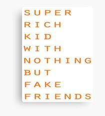 Super Rich Kid Canvas Print