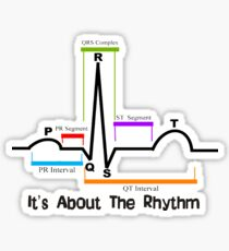 Cardiac ST Segment Rhythm Sticker