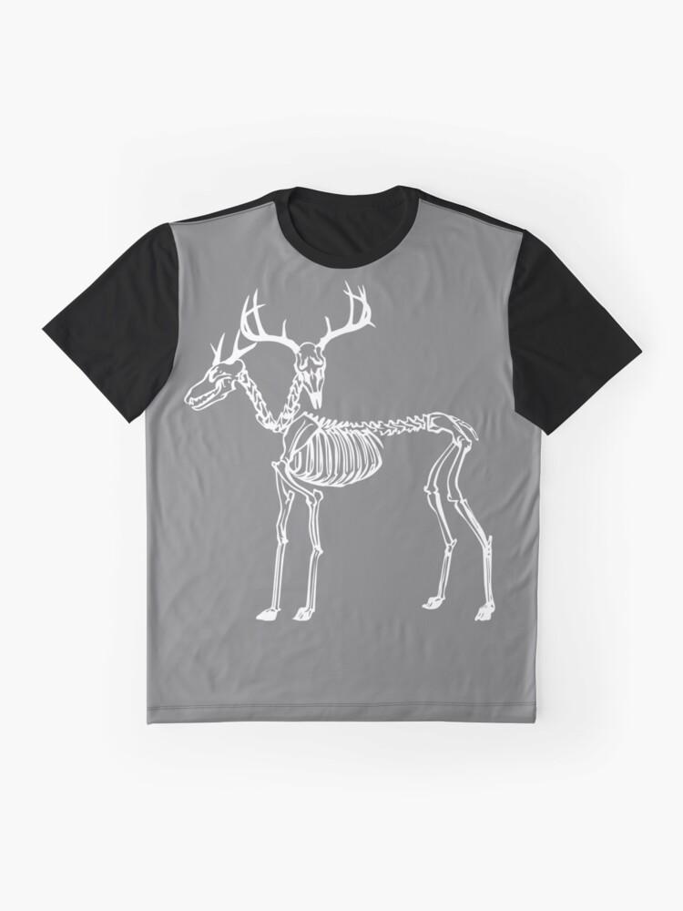 Alternative Ansicht von Zweiköpfige Hirsche Grafik T-Shirt