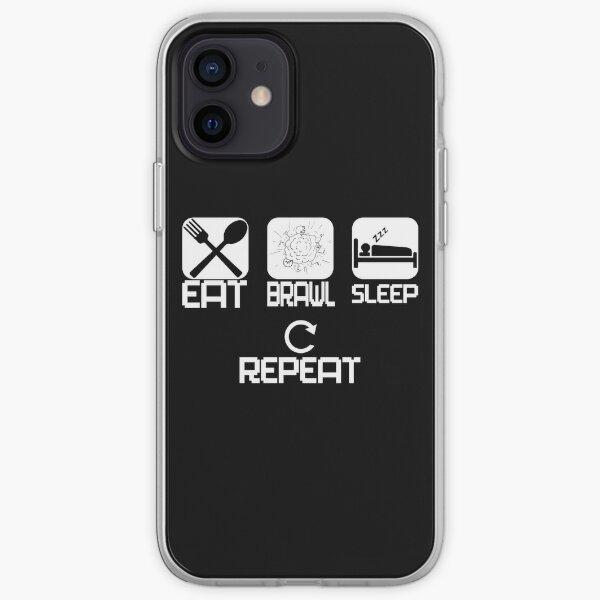 Mangez répétition de bagarre de sommeil Coque souple iPhone