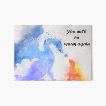 The dog and the dragon Art Board Print