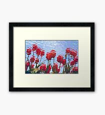 Reflected Tulips Framed Print