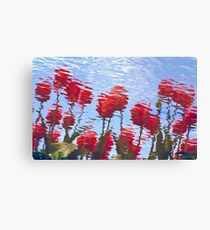 Reflected Tulips Canvas Print