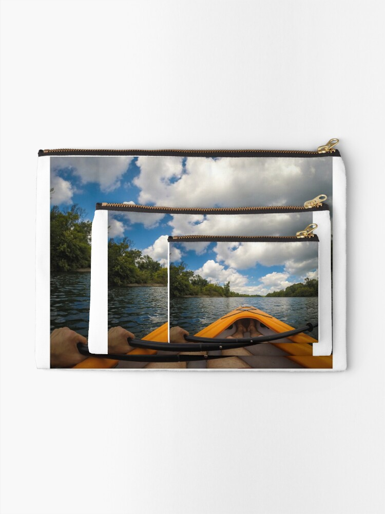 Alternate view of Out on the water Zipper Pouch