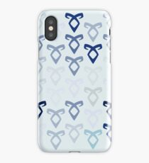 Angelic rune (as seen in Shadowhunters) pattern (light) iPhone Case/Skin
