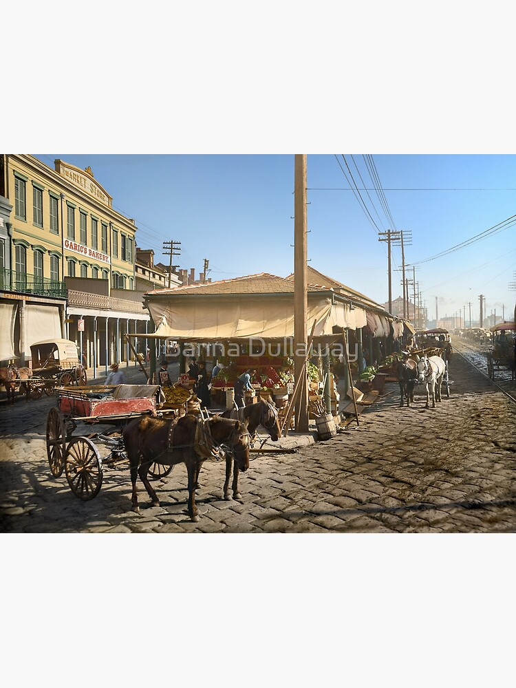 French Market in New Orleans, in the year 1906 by SannaDullaway
