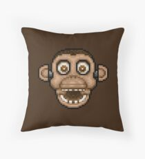 Five Nights at Candy's - Pixel art - Chester the Chimp Throw Pillow