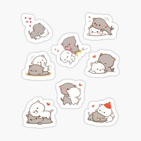 Love Hugs - Pack d'autocollants Peach et Goma Cats Sticker