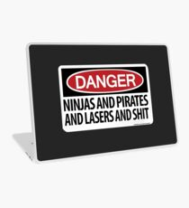 Ninjas and Pirates and Lasers, Oh My! Laptop Skin
