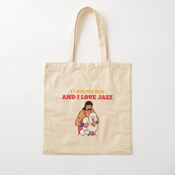 I love my dog and I love jazz  Cotton Tote Bag