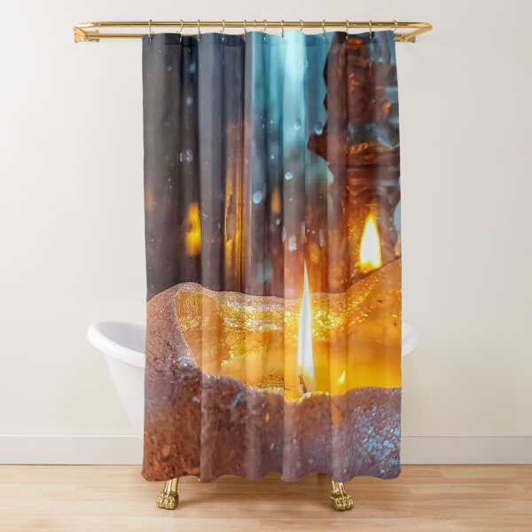 Stilllive With Large Candle  Shower Curtain