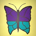 Butterfly Stained Glass by DanielleGensler