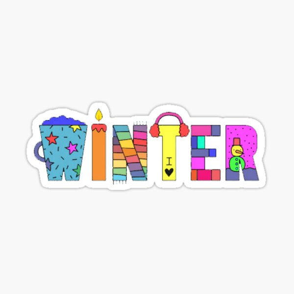 Beautiful winter Sticker