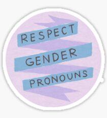 Respect Gender Pronouns Sticker