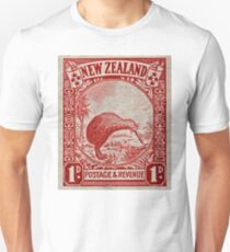 """1936 New Zealand Kiwi Stamp"" T-Shirt"