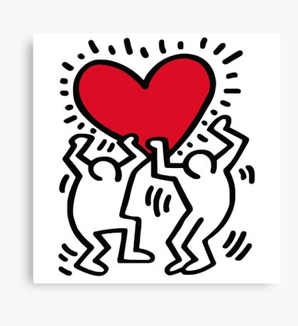 Keith Haring Love Canvas Print