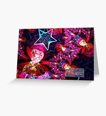 stars and hearts spherical Greeting Card