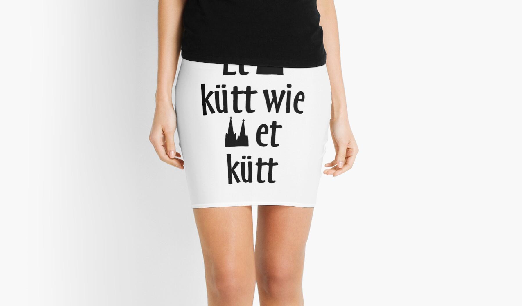 """et kütt wie et kütt - köln spruch kölsche sprüche"""" mini skirts"""