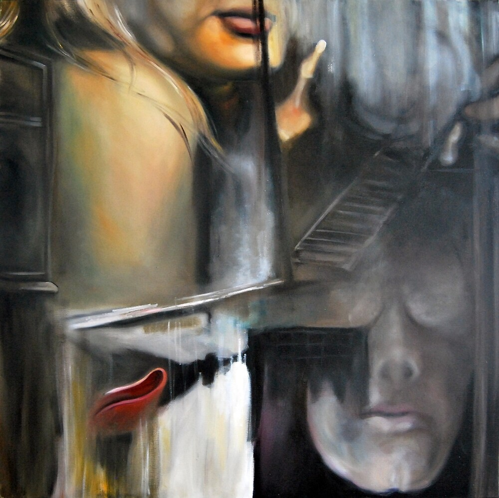 Collapse, 2013, 100-100cm, oil on canvas by oanaunciuleanu