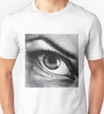 Looking eyes, graphite crayon on paper Unisex T-Shirt