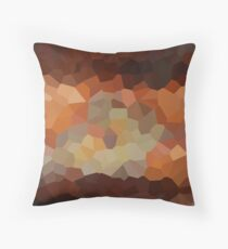 Copper Crystals Throw Pillow